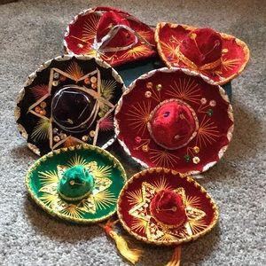 Vintage miniature Mexican Sombreros